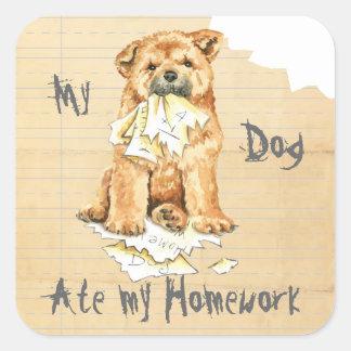 My Chow Chow Ate My Homework Square Sticker