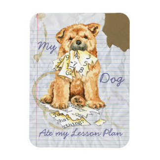 My Chow Chow Ate My Lesson Plan Rectangular Photo Magnet