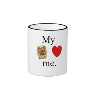 My chow chow loves me in icons ringer coffee mug