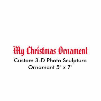 "My Christmas 3D Photo Sculpture Ornament 5"" x 7"""