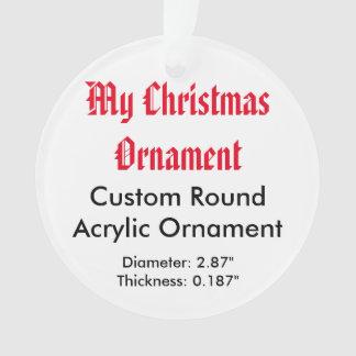 My Christmas Custom Acrylic Ornament (Round)