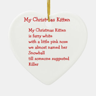 My Christmas Kitten Ornament