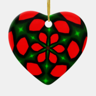 My Christmas Love Double-Sided Heart Ceramic Christmas Ornament