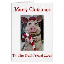 MY **CHRISTMAS PIGGY** BEST FRIEND EVER CARD