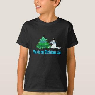 """My Christmas Shirt"" Black Apparel T-Shirt"