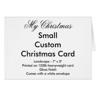 My Christmas Small Custom Christmas Card Landscape