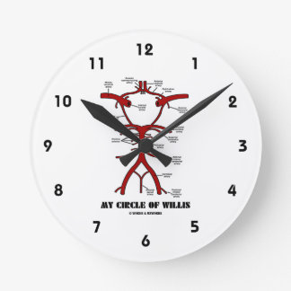 My Circle Of Willis (Anatomical) Round Clock