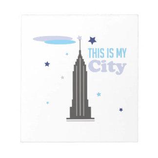 My City Memo Notepad