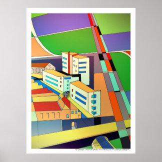 My Cityscape print poster art