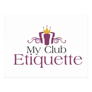 My Club Etiquette Postcard