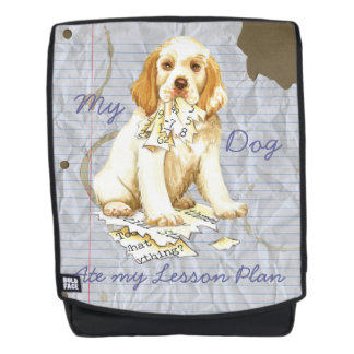 My Clumber Spaniel Ate My Lesson Plan Backpack