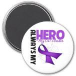 My Co-Worker Always My Hero - Purple Ribbon Magnet
