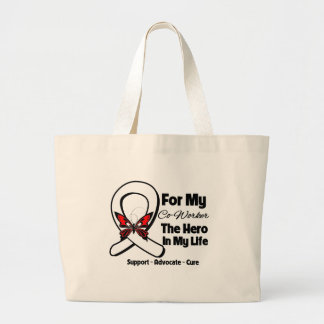My Co-Worker - Lung Cancer Awareness Jumbo Tote Bag