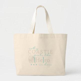 My Coastie puts the He in Hero Jumbo Tote Bag