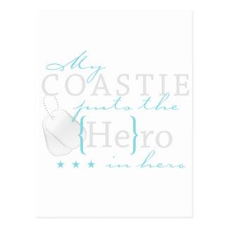 My Coastie puts the He in Hero Postcard