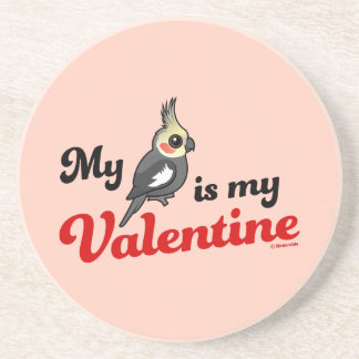 My Cockatiel Is My Valentine Drink Coaster