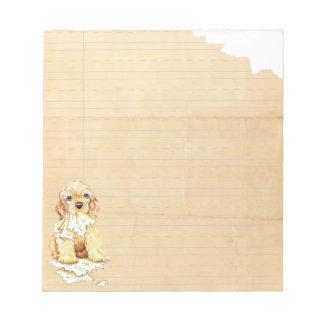 My Cocker Spaniel Ate My Homework Notepad