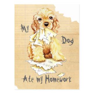 My Cocker Spaniel Ate My Homework Postcard