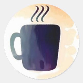 My Coffee Fix Classic Round Sticker