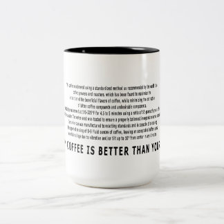 My Coffee Is Better Than Yours! Two-Tone Coffee Mug