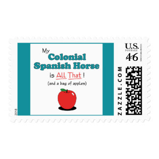 My Colonial Spanish Horse is All That Funny Horse Postage