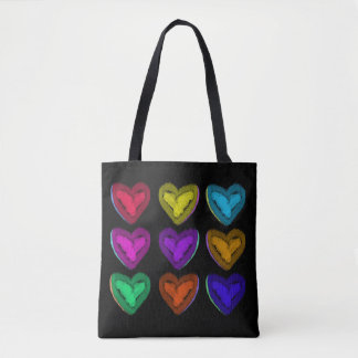 My Colorful Hearts! | Valentine Tote Bag