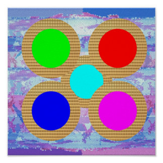 My colorful Moons:  ARTISTS same as KIDS world Poster