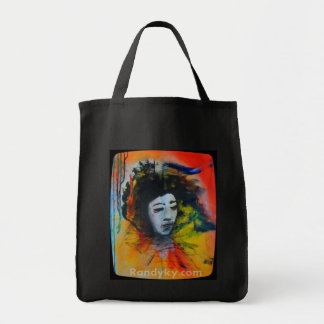 My colorful side Grocery Tote bag