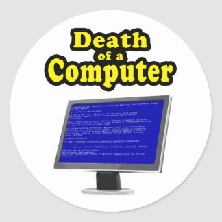 My Computer hangs Classic Round Sticker