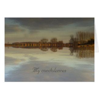 My condolences - Greeting card