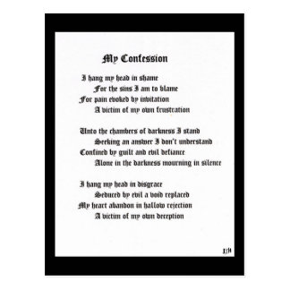 My Confession Postcard