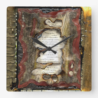 My Confession Square Wall Clock