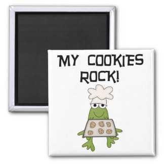 My Cookies Rock Tshirts and Gifts 2 Inch Square Magnet
