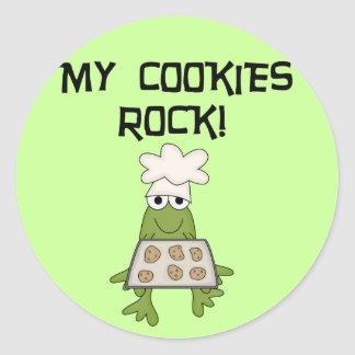 My Cookies Rock Tshirts and Gifts Classic Round Sticker