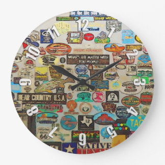 My Cool Decals - Travel Stickers Large Clock