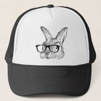 my cool rabbit with spectacles designed by Kanjiz Trucker Hat