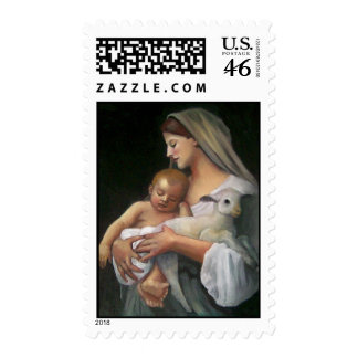 My Copy of BOUGEUREAU Painting: Christmas Stamp