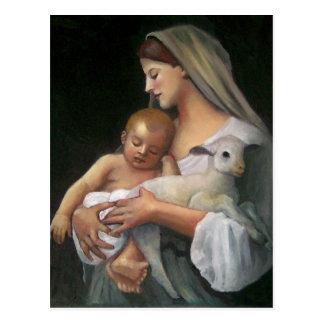 "My Copy of Bouguereau's ""Innocence"": Baby, Lamb Postcard"