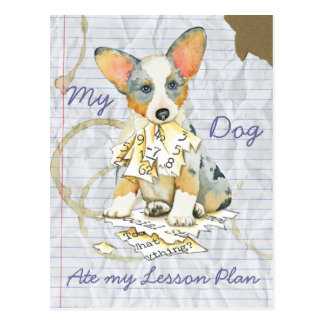 My Corgi Ate My Lesson Plan Post Card