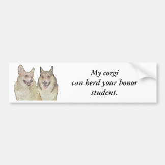 My corgican herd your honor st... bumper sticker