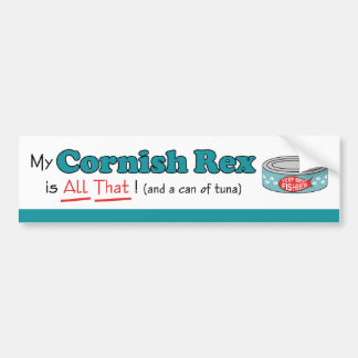 My Cornish Rex is All That! Funny Kitty Bumper Stickers