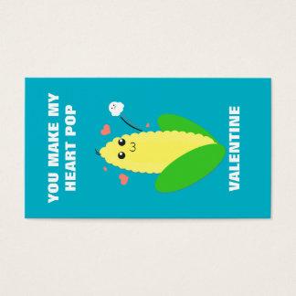 My Corny Mini Valentine Business Card