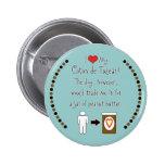 My Coton de Tulear Loves Peanut Butter Pinback Buttons