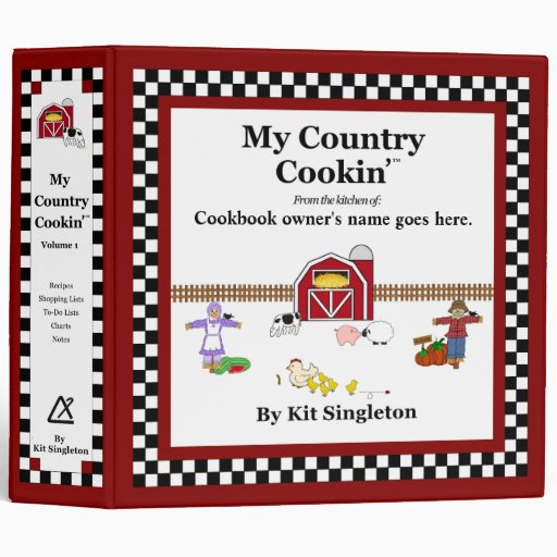 My Country Cookin' Basic Cookbook 3 Ring Binder