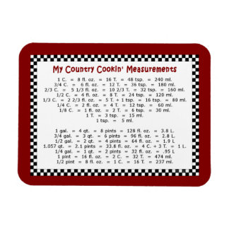"My Country Cookin' Measurements 4""x3"" Photo Magnet"