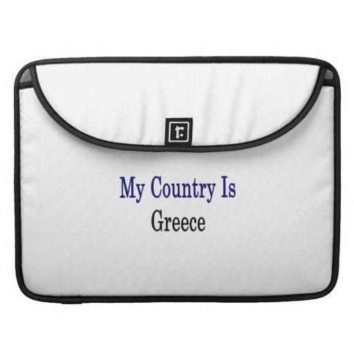 My Country Is Greece Sleeves For MacBooks