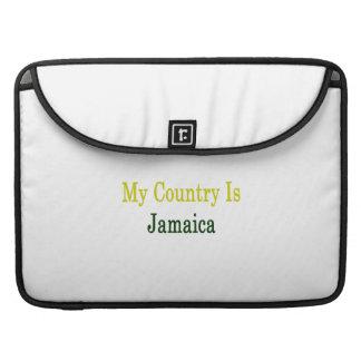 My Country Is Jamaica MacBook Pro Sleeves