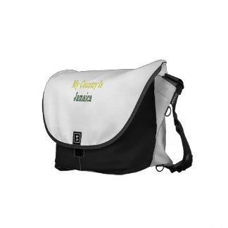 My Country Is Jamaica Messenger Bags