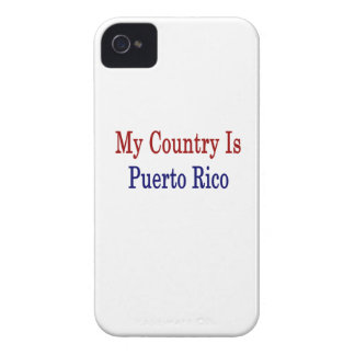 My Country Is Puerto Rico iPhone 4 Case-Mate Cases