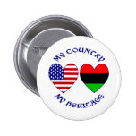 My Country My African-American Heritage Pinback Buttons